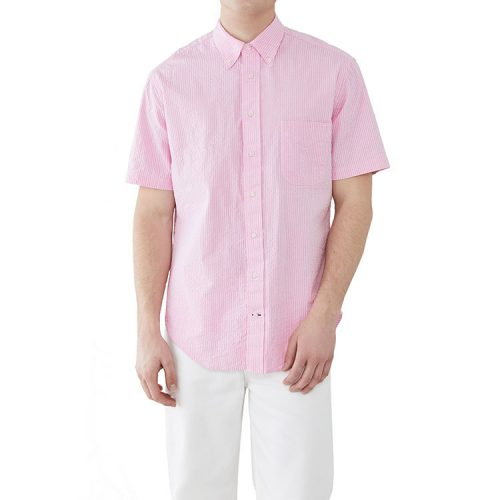 gitman-vintage-tonal-seersucker-shirt-pink Available online or in store at assembly88 men's shop in Allentown, PA