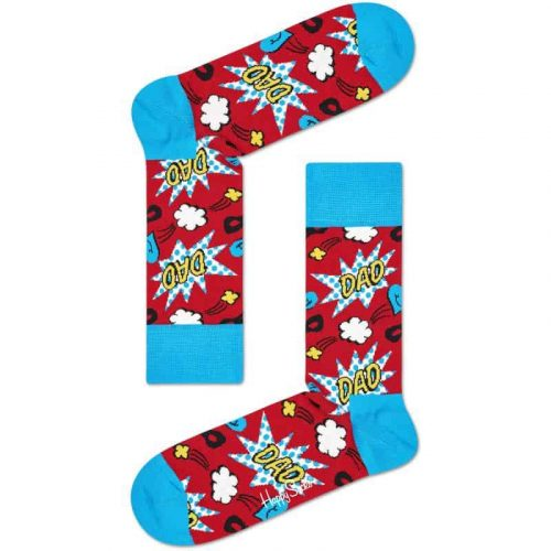 Happy Sock Dad Socks size 8-12 Red/Combo for sale online and at assembly88 men's store in Allentown, PA.