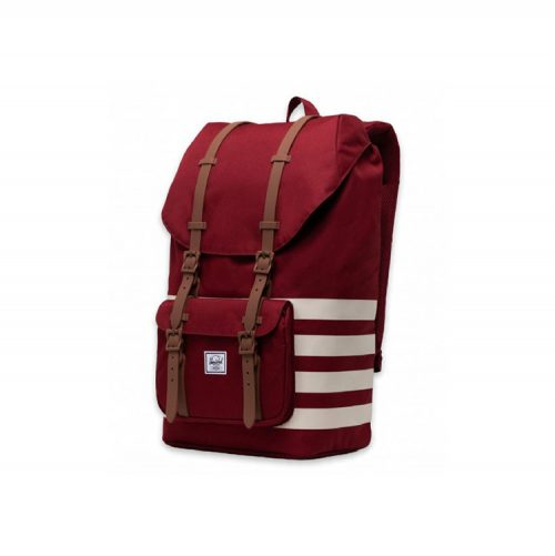 herschel-supply-little-america-backpack-rhubarb-birch-stripe Available online or in store at assembly88 men's shop in Allentown, PA