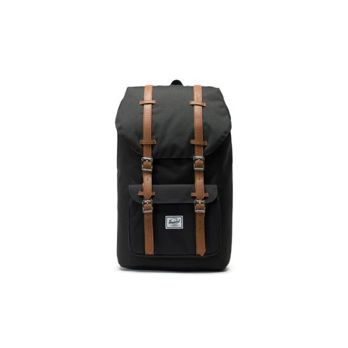 herschel-little-america-backpack-black-tan-synthetic-leather Available online or in store at assembly88 men's shop in Allentown, PA