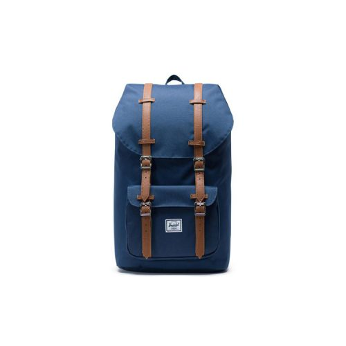 herschel-little-america-backpack-navy-tan-synthetic-leather Available online or in store at assembly88 men's shop in Allentown, PA