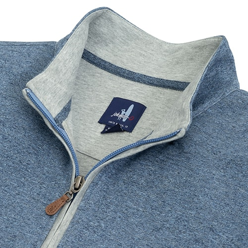 johnnie-O Sully 1/4 Zip Casual Pullover Adrift
