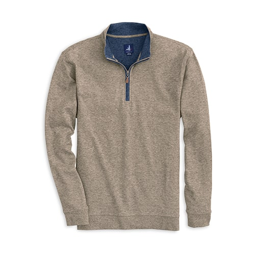 johnnie-O Sully 1/4 Zip Casual Pullover Hickory