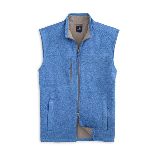 johnnie-O Wes Zip Front Vest Tide