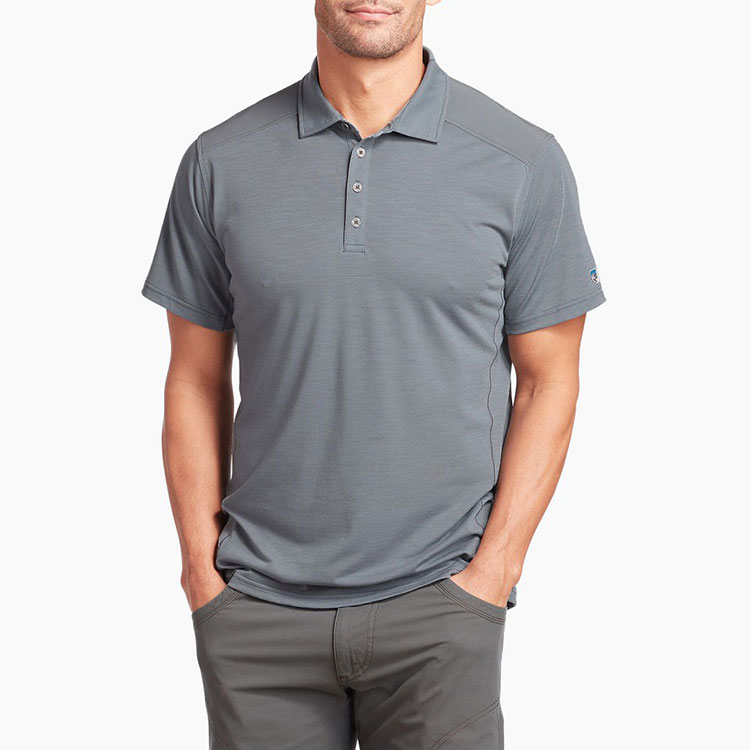 kuhl-virtuoso-polo-slate-men's-shop Available online or in store at assembly88 men's shop in Allentown, PA