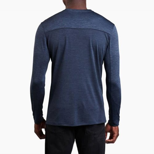 kuhl-engineered-ls-pirate-blue-men's-long-sleeve-shirt Available online or in store at assembly88 men's shop in Allentown, PA
