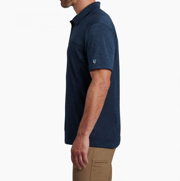 kuhl-engineered-polo-pirate-blue-men's-polo Available online or in store at assembly88 men's shop in Allentown, PA