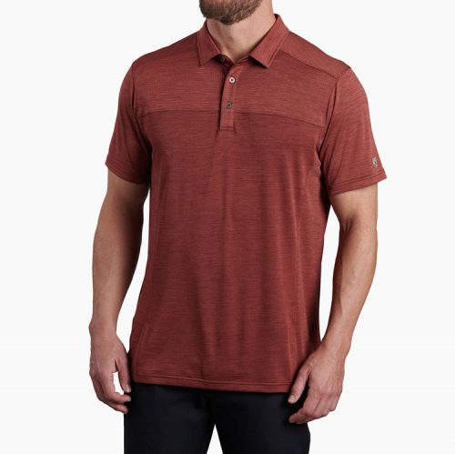 kuhl-engineered-polo-sundried-tomato Available online or in store at assembly88 men's shop in Allentown, PA