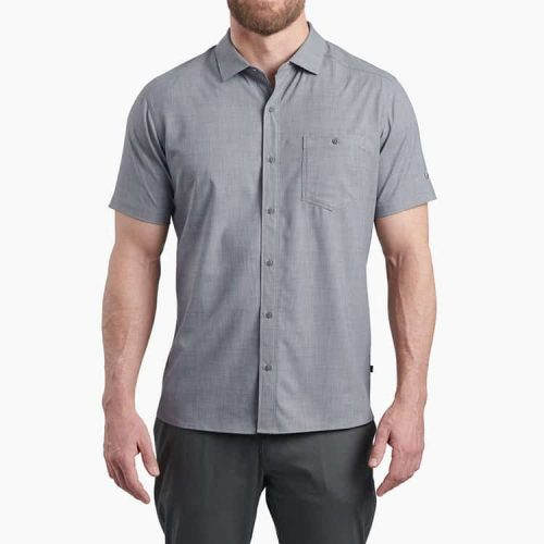 kuhl-persuader-ss-anchor-gray-men's-polo- Available online or in store at assembly88 men's shop in Allentown, PA