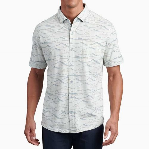 kuhl-innovatr-horizon-print-cloud-gray Available online or in store at assembly88 men's shop in Allentown, PA