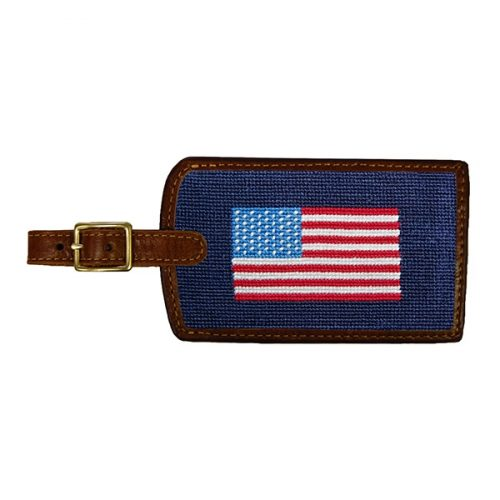 smathers-branson-american-flag-needlepoint-luggage-tag Available online or in store at assembly88 men's shop in Allentown, PA