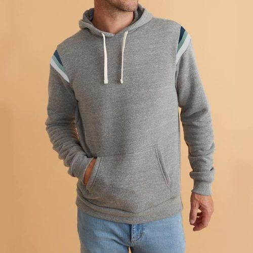 Marine Layer Banks Pullover Hoodie Heather Grey