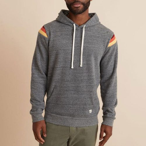 marine-layer-banks-pullover-hoodie-dark-heather-grey for sale online and in store at assembly88 men's store in Allentown, PA