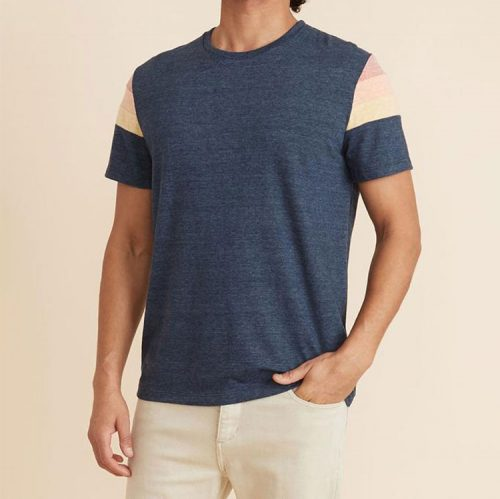 marine-layer-banks-tee-in-navy-heather Available online or in store at assembly88 men's shop located in Allentown, PA