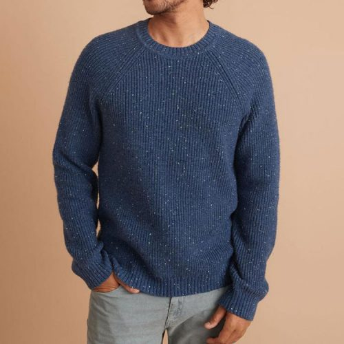 marine-layer-coleman-crewneck-sweater-in-navy-neps Available online or in store at assembly88 men's shop in Allentown, PA