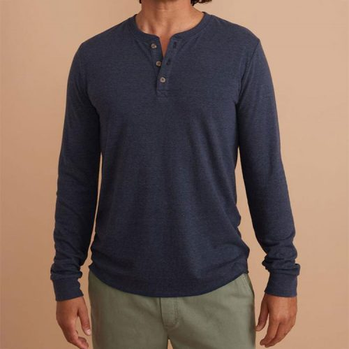 marine-layer-double-knit-henley-in-navy-blazer Available online or in store at assembly88 men's shop in Allentown, PA