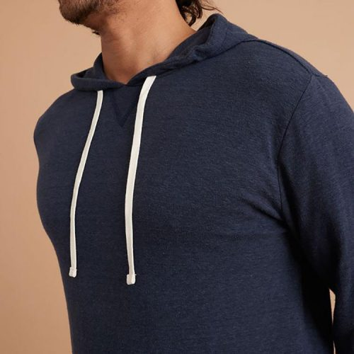 marine-layer-double-knit-pullover-hoodie-in-navy Available online or in store at assembly88 men's shop in Allentown, PA