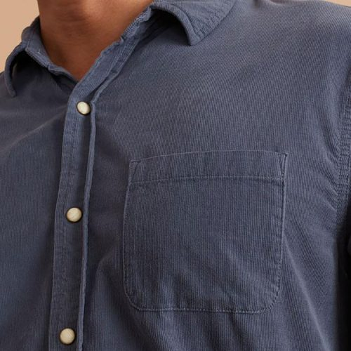 marine-layer-lightweight-snap-cord-shirt-in-dark-navy Available online or in store at assembly88 men's shop in Allentown, PA