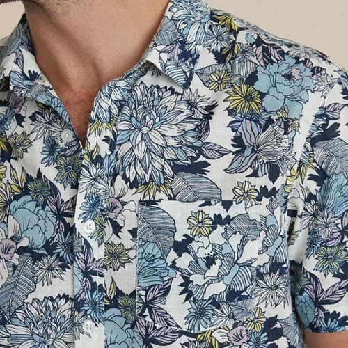 marine-layer-lightweight-cotton-shirt-in-multi-floral-print Available online or in store at assembly88 men's shop in Allentown, PA