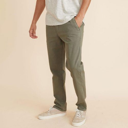 marine-layer-saturday-pant-in-slim-fit-in-deep-lichen Available online or in store at assembly88 men's shop in Allentown, PA