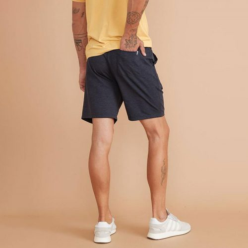 marine-layer-sport-yoga-short-navy-heather Available online or in store at assembly88 men's shop in Allentown, PA