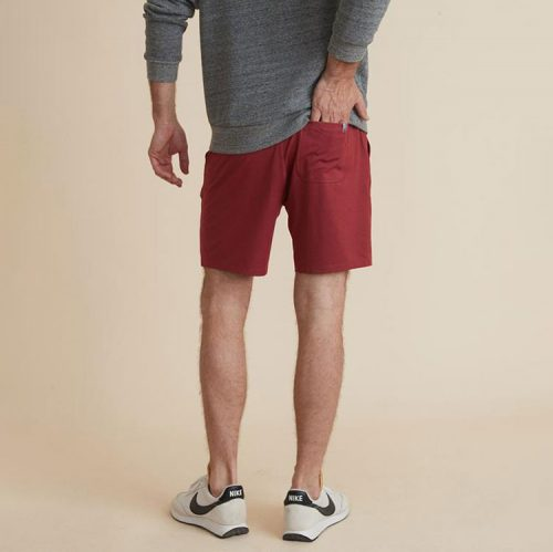 marine-layer-sport-yoga-short-in-rosewood Available online or in store at assembly88 men's shop in Allentown, PA