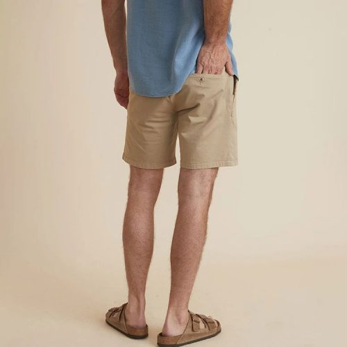 marine-layer-walk-short-in-khaki-men's-short Available online or in store at assembly88 men's shop in Allentown, PA
