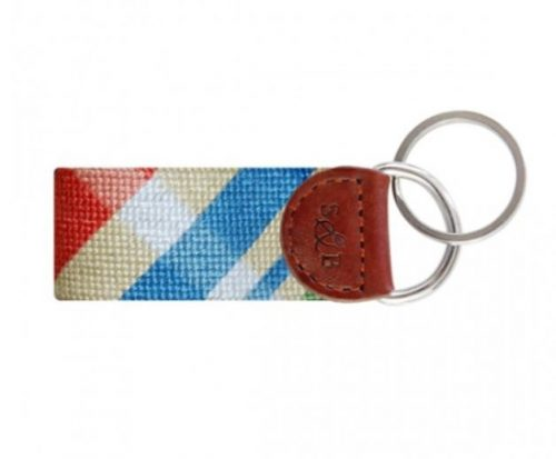 smathers-branson-summer-madras-needlepoint-key-fob Available online or in store at assembly88 men's shop in Allentown, PA