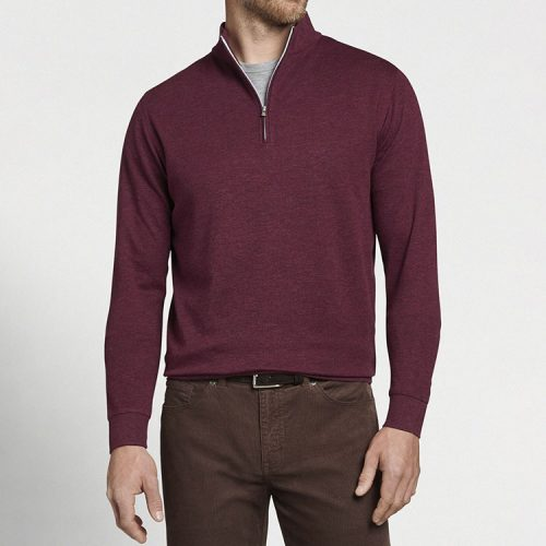 peter-millar-crown-comfort-interlock-quarter-zip-cinnamon Available online or in store at assembly88 men's shop in Allentown, PA