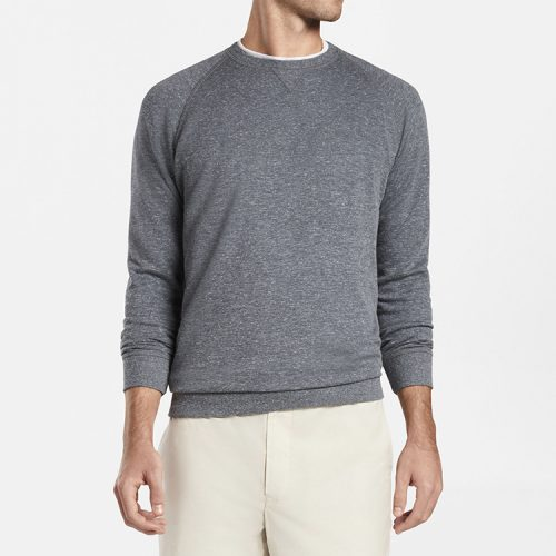 peter-millar-seaside-jasper-crew-british-grey available online or in store at assembly88 men's store in Allentown, PA.