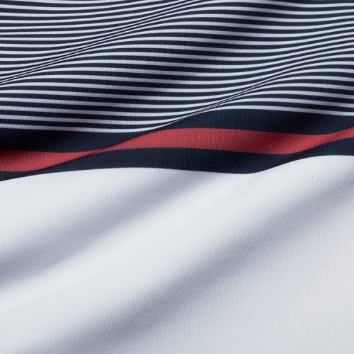 mizzenmain-clubhouse-polo-navy-red-stripe Available online or in store at assembly88 men's shop in Allentown, PA
