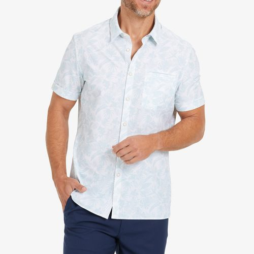 mizzenmain-leeward-vacation-shirt-skyway-tropical-print Available online or in store at assembly88 men's shop in Allentown, PA