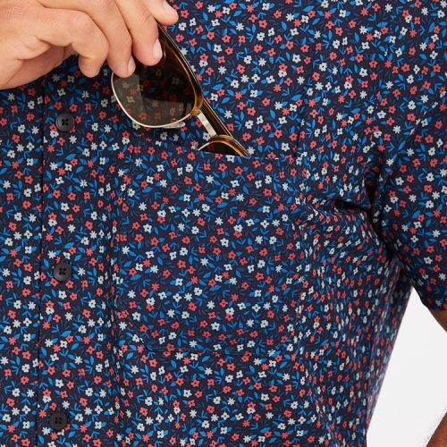mizzenmain-leeward-short-sleeve-red-and-blue-floral Available online or in store at assembly88 men's shop in Allentown, PA