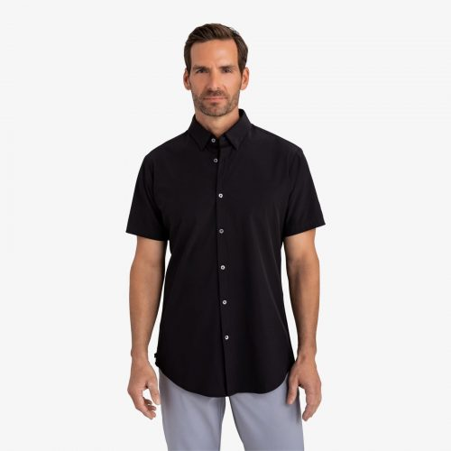 mizzenmain-leeward-short-sleeve-black-solid Available online or in store at assembly88 men's shop in Allentown, PA