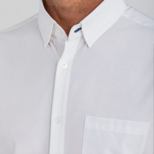 mizzenmain-leeward-short-sleeve-white-solid Available online or in store at assembly88 men's shop in Allentown, PA