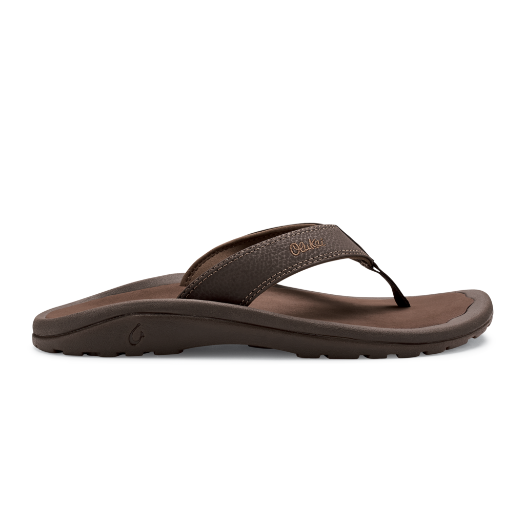 olukai-ohana-dark-java-ray-men's-beach-sandals Available online or in store at assembly88 men's shop in Allentown, PA