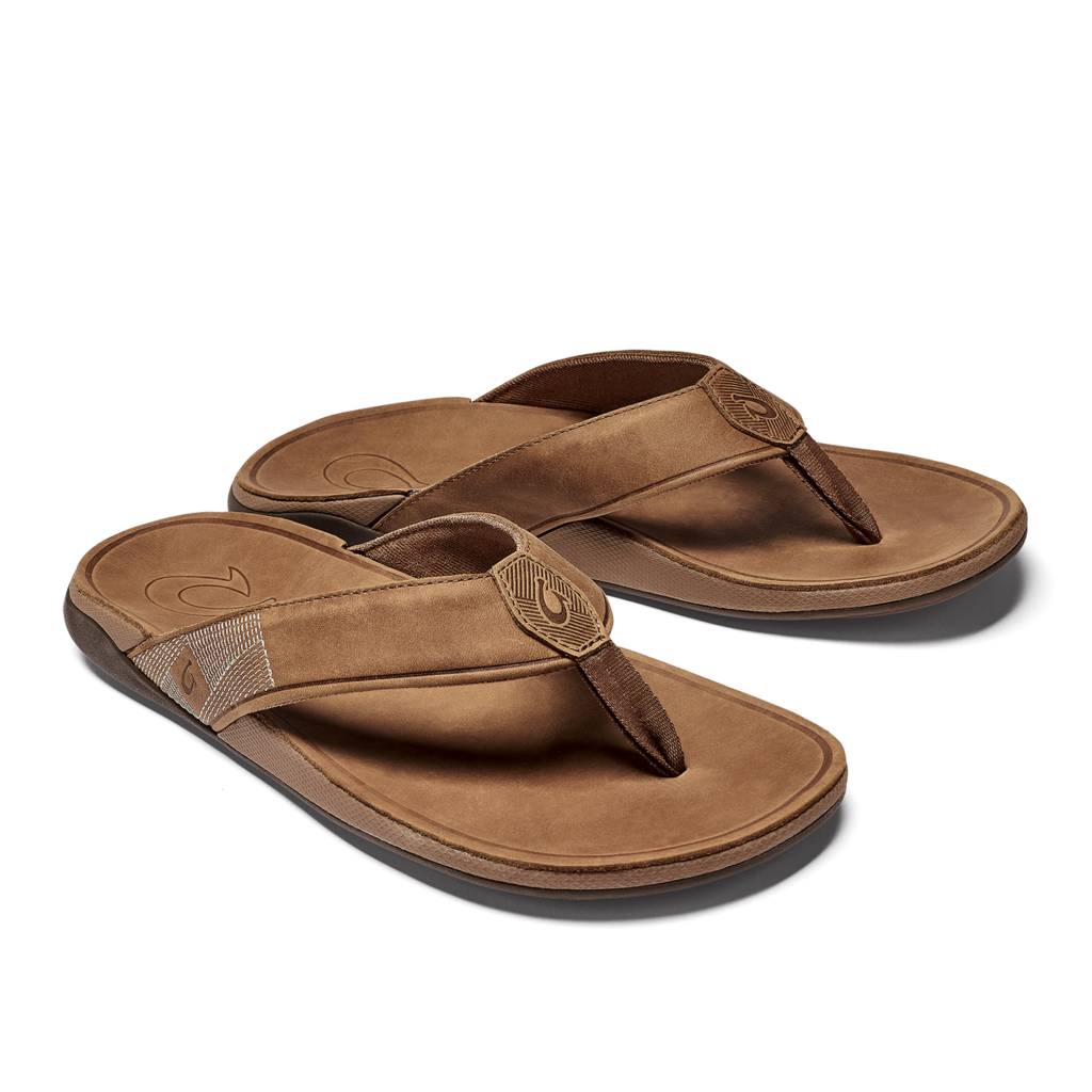 olukai-tuahine-toffee-men's-beach-sandal Available online or in store at assembly88 men's shop in Allentown, PA