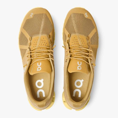 on-cloud-monochrome-dijon-men's-running-shoe Available online or in store at assembly88 men's shop in Allentown, PA