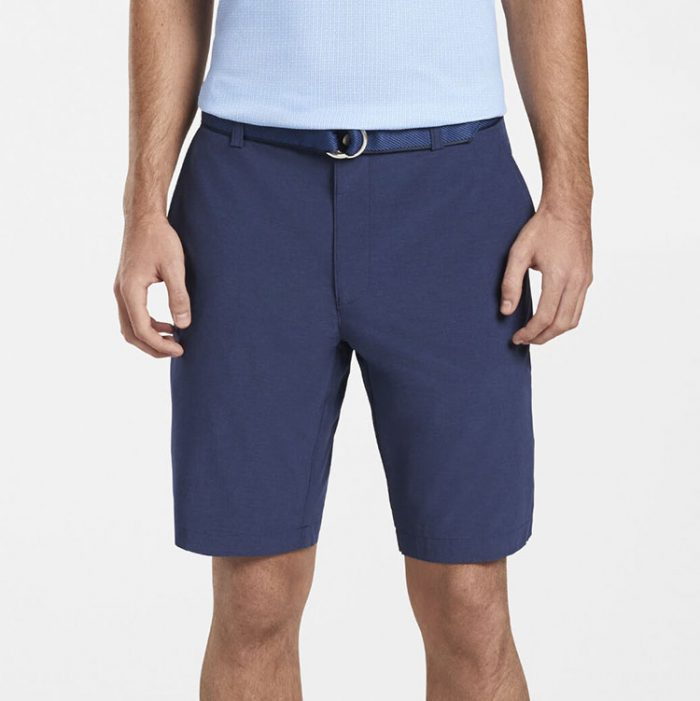 peter-millar-shackleford-performance-hybrid-short-navy Available online or in store at assembly88 men's shop in Allentown, PA