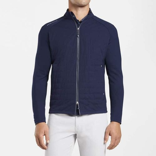 peter-millar-hyperlight-merge-hybrid-jacket-navy available online or in store at assembly88 men's store in Allentown, PA.