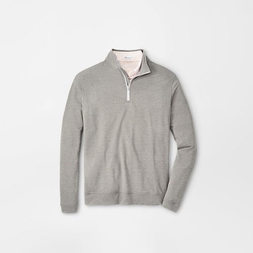 peter-millar-perth-performance-melange-quarter-zip-smoke Available online or in store at assembly88 men's shop in Allentown, PA