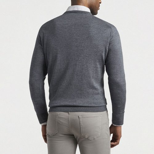 peter-millar-crown-soft-merino-silk-v-neck-sweater-charcoal Available online or in store at assembly88 men's shop in Allentown, PA