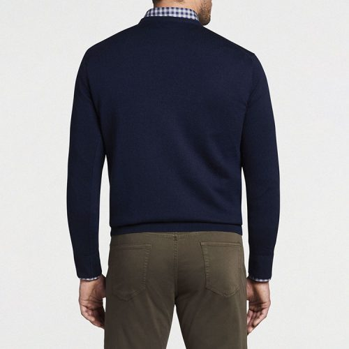peter-millar-crown-soft-merino-silk-v-neck-sweater-navy Available online or in store at assembly88 men's shop in Allentown, PA