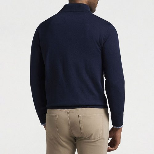peter-millar-crown-soft-merino-silk-quarter-zip-sweater-navy Available online or in store at assembly88 men's shop in Allentown, PA