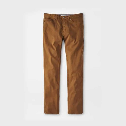Peter Millar Ultimate Sateen Five-Pocket Pant Scotch