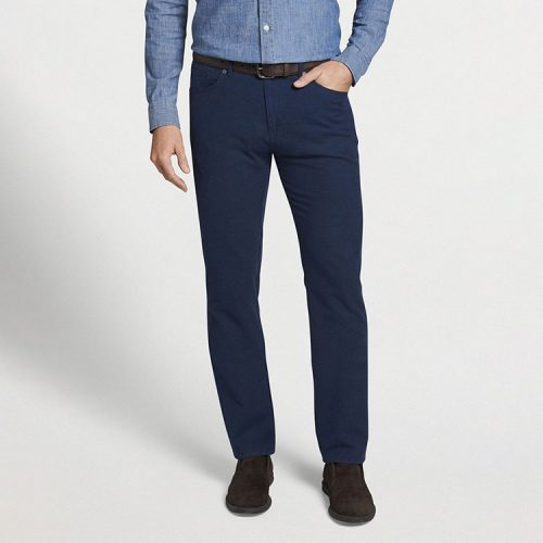 peter-millar-cotton-flannel-five-pocket-pant-atlantic-blue Available online or in store at assembly88 men's shop in Allentown, PA