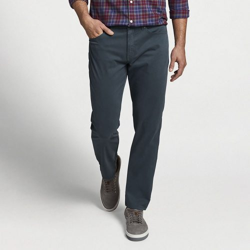 peter-millar-ultimate-sateen-five-pocket-pant-charcoal Available online or in store at assembly88 men's shop in Allentown, PA
