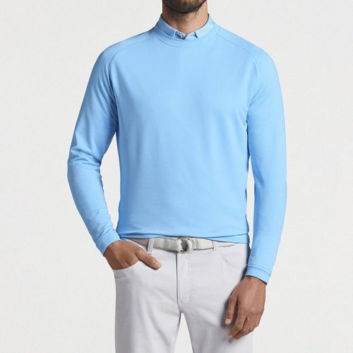 peter-millar-cradle-performance-crewneck-beta-blue Available online or in store at assembly88 men's shop in Allentown, PA