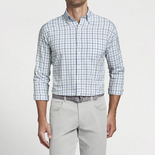 peter-millar-barrie-performance-poplin-sport-shirt found online or in store at assembly88 men's shop in Allentown, PA