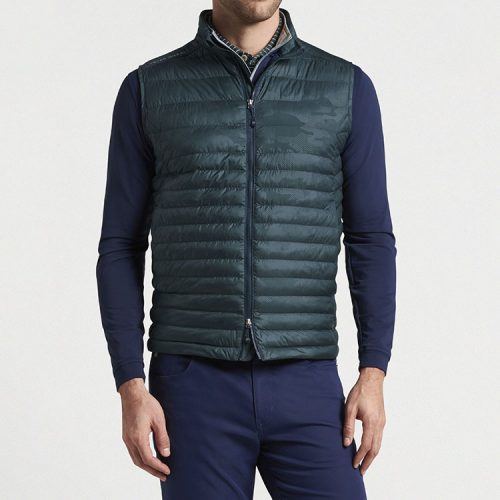peter-millar-hyperlight-quilted-vest-nordic-pine Available online or in store at assembly88 men's shop in Allentown, PA